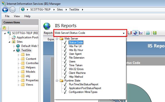 ScottGu's Blog - New Log Reporting, Database Management, and