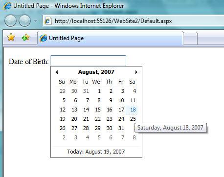 step2 Using ASP.NET AJAX Control Extenders in VS 2008