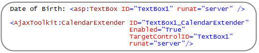 step3 Using ASP.NET AJAX Control Extenders in VS 2008