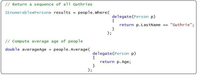 Lamda Expressions - New C# 3 0 Language Features - C#