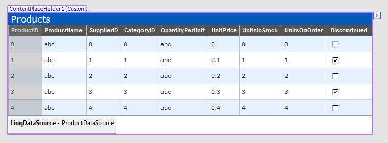 ScottGu's Blog - LINQ to SQL (Part 5 - Binding UI using the ASP
