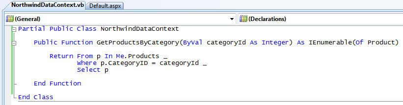 ScottGu's Blog - LINQ to SQL (Part 8 - Executing Custom SQL Expressions)