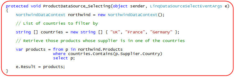 ScottGu's Blog - LINQ to SQL (Part 9 - Using a Custom LINQ