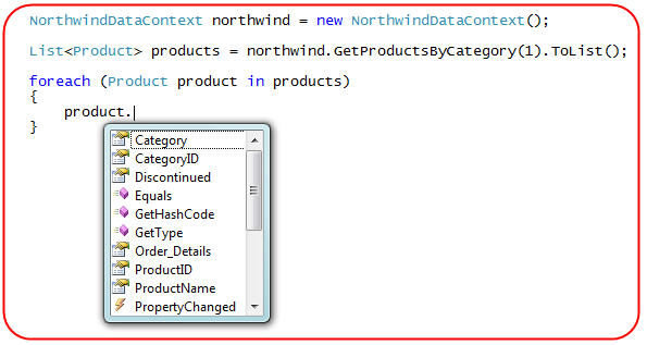 ScottGu's Blog - LINQ to SQL (Part 6 - Retrieving Data Using