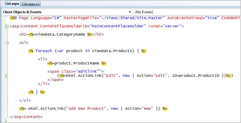 ScottGu's Blog - ASP NET MVC Framework (Part 4): Handling
