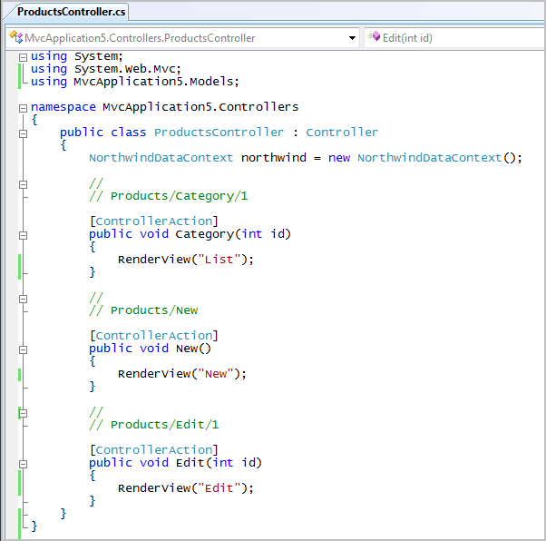 ScottGu's Blog - ASP NET MVC Framework (Part 4): Handling