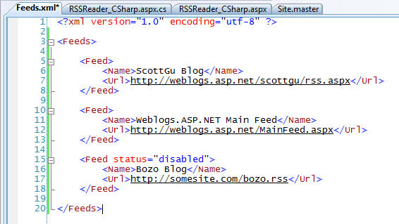 step2 Using LINQ to XML (and how to build a custom RSS Feed Reader with it)