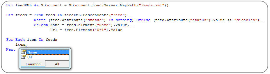 step4 Using LINQ to XML (and how to build a custom RSS Feed Reader with it)