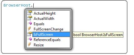 step6 Full screen experience with Silverlight