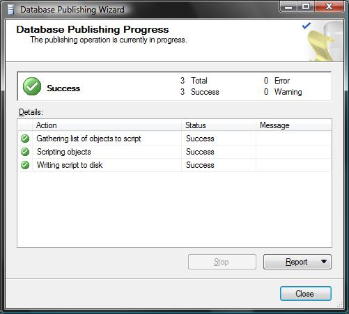 ScottGu's Blog - Recipe: Deploying a SQL Database to a Remote