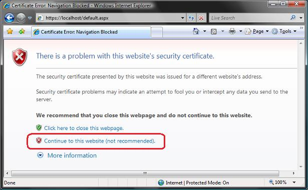 ScottGu's Blog - Tip/Trick: Enabling SSL on IIS 7 0 Using