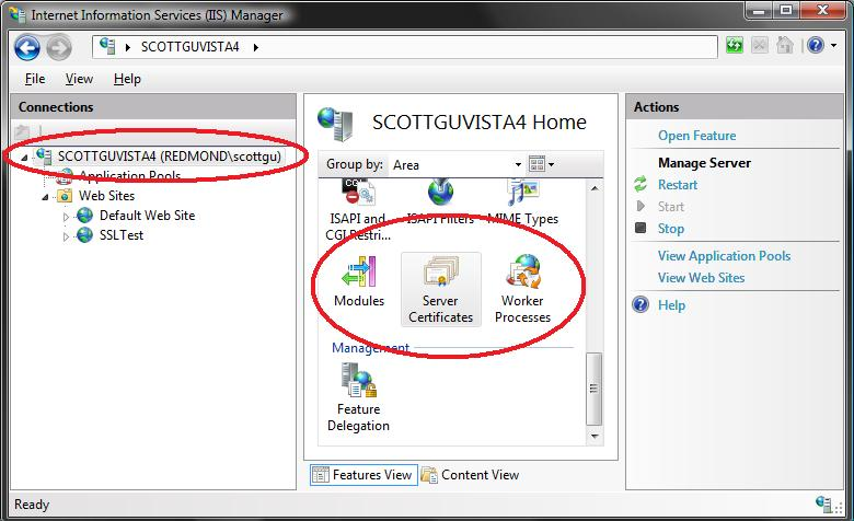 ScottGu's Blog - Tip/Trick: Enabling SSL on IIS 7.0 Using Self ...