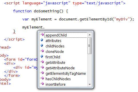 step2 VS 2008 JavaScript Intellisense